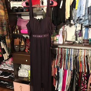 Beautiful Purple Bead Embellished Gown